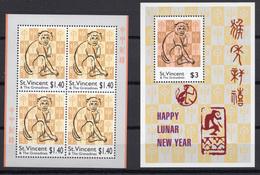 2004 - ST.VINCENT E GRENADINE -  Catg.. Mi.  5978/5979 - NH - (UP.207.7) - St.Vincent E Grenadine