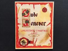 AALST - Etiket - Jenever - Stokerij - Distillerie - Sint-Martinus - Aalst