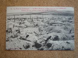 Carte Postale Guerre De 1914  Le Front De Champagne Le Mont Blond Et Le Mont Haut Prit Du Cornillet - Guerra 1914-18