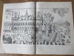 Gravure  1872   Fetes De La  Veille De La SAINT-JEAN   Place De Grève Au   17ème  Hotel De Ville De PARIS  MAGNIFIQUE BA - Vieux Papiers