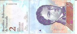 Venezuela    2 Bolivares  19.08. 2014  UNC - Venezuela