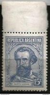 Argentina  - 1942 Martin Guernes 15c MNH **  (light Horizontal Crease) - Argentina