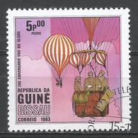 Guinea-Bissau 1983. Scott #445 (U) Manned Flight (Hot Air Balloon) Bicentenary * - Guinée-Bissau