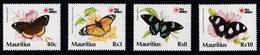 MAURITIUS 1991 FARFALLE - Mauritius (1968-...)