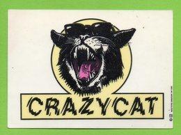 CRAZY CAT * CHAT * AUTOCOLLANT 2770 * - Autocollants