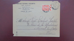Lettre Perfore CN 304 Agence De Gray Haute Saone Comptoir National D'Escompte Type Semeuse 1933 - Perforés