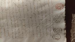 Registre D'enregistrement D'actes Notariés, Généralité D'Alençon, Secteurs De Domfront, Tinchebray, Chanu, An VII. - Cachets Généralité