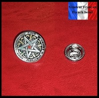 Pins Pin's Badge NEUF Métal Et Verre ( Brooch ) - Pentagramme Magie Esotérisme ( Ref 2 ) - Pin's