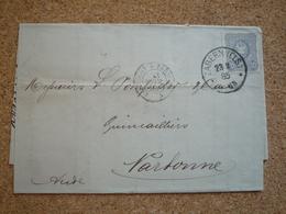 Lettre Affranchie Oblitération Zabern (Els) 1885 - Allemagne