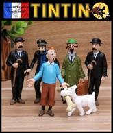 6 Figurines En PVC NEUVES ! Tintin, Le Capitaine Haddock, Le Professeur Tournesol, Dupond Et Dupont, Milou - Tintin