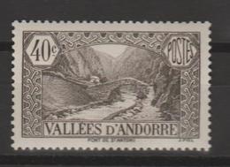 ANDORRA CORREO FRANCES SELLO NUEVO  ***SIN SEÑAL DE    CHARNELA (C.CLASICOS. - Andorra Francesa
