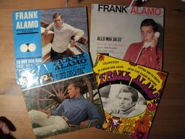 FRANK ALAMO. LOT DE QUATRE 46 TOURS 4 TITRES. 1963 / 1967 LILLIPUTIEN / SI J AVAIS DES AILES / ENVOIE MOI TA PHOTO / AV - Vinylplaten