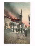 Brand Der KIrche In Woinvilledurch Die FRanzosen Selbst In Brand Geschossen.Expédié En Feldpost à Barbing. - Frankreich
