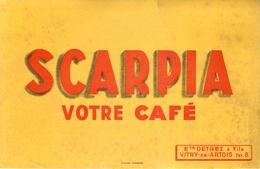 Buvard Ancien CAFE SCARPIA - ETABLISSEMENT DETREZ ET FILS - VITRY EN ARTOIS - Café & Thé