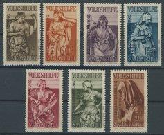 SAARGEBIET 199-205 *, 1934, Volksabstimmung, Falzrest, 2 Fr. Ein Kurzer Zahn Sonst Prachtsatz, Mi. 70.- - 1920-35 Saargebiet – Abstimmungsgebiet