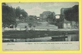 * Bouillon (Luxembourg - La Wallonie) * (Edition Florin - 36247) Chateau, Vue Des 2 Ponts Levis, Bateau, TOP, Unique - Bouillon