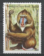 Guinea-Bissau 1983. Scott #460 (U) African Apes And Monkey, Mandrillus Sphinx, Singe * - Guinée-Bissau