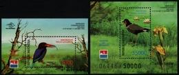 Indonesien 1998 - Mi-Nr. Block 135-136 ** - MNH - Vögel / Birds - Indonesien