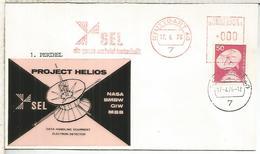 ALEMANIA STUTTGART FRANQUEO MECANICO SEL  ESPACIO SPACE SATELITE PROJECT HELIOS NASA - Briefe U. Dokumente