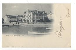 21383 - Lutry Hôtel De Ville Barques + Cachet La Coudre 1900 - VD Vaud