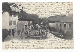 21384 - Vuiteboeuf Fontaine  + Cachet Linéaire Vuiteboeuf - VD Vaud