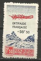 Morocco  - 1944 Welfare Charity 1.50f+98.50f  MNH **   Sc CB24 - Morocco (1891-1956)