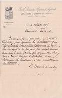 1895  - BLASON ECUSON DE L'ECOLE PRIMAIRE SUPERIEURE AGRICOLE DE CADILLAC SUR GARONNE ARRT BORDEAUX - Diplômes & Bulletins Scolaires