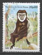 Guinea-Bissau 1983. Scott #462 (U) African Apes And Monkey, Colobus Abyssinicus, Singe * - Guinée-Bissau