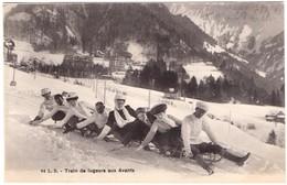 Montreux - Les Avants -Train De Lugeurs Aux Avants - VD Vaud