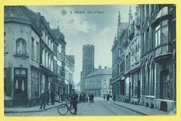 * Menen - Menin * (SBP, Nr 8) Rue Ypres, Ieperstraat, Vélo, TOP, Boucherie, Zeldzaam, Belfort, Belle Animation, Animée - Menen