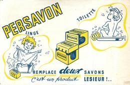 Buvard Ancien PERSAVON LINGE ET TOILETTE - LESIEUR - Parfums & Beauté