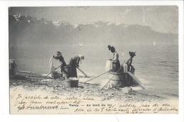 21389 - Vevey Au Bord Du Lac La Lessive ( Attention Carte Voir Verso) - VD Vaud