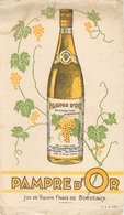 Buvard Ancien JUS DE RAISINDE BORDEAUX - PAMPRE D OR - Limonades
