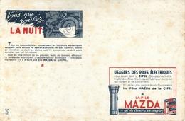 Buvard Ancien PILES MAZDA - Baterías