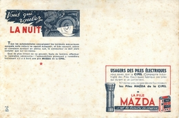 Buvard Ancien PILES MAZDA - Piles