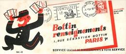 Buvard Ancien BOTTIN ET RENSEINGNEMENTS - PARIS - Stationeries (flat Articles)