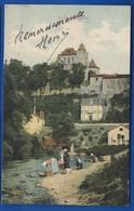 LIVERDUN    Lavandières   Carte   Couleurs  Animées    écrite En 1907 - Liverdun
