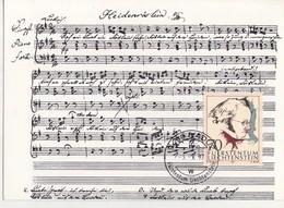 Liechtenstein -Franz Schubert-Carte Maximum - Music