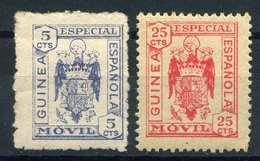 ESPAÑA. GUERRA CIVIL. GUINEA. ESPECIAL MÓVIL. 5cts Y 25cts - Emisiones Repúblicanas