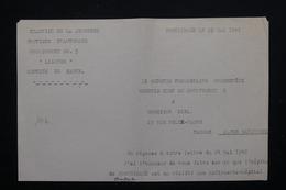 MILITARIA - Document Du Camp De Jeunesse De Pontgibaud En 1942 - L 21511 - Documents