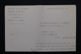 MILITARIA - Document Du Camp De Jeunesse De Pontgibaud En 1942 - L 21511 - Documenti