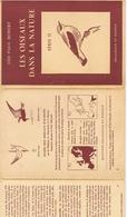 LES OISEAUX DANS LA NATURE De Léo-Paul ROBERT Avec 12 Fiches Au Format 12 / 16 - Publicités