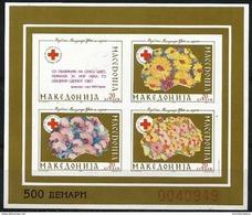 Macedonia  - 1993 Red Cross Gold Imperf S/sheet  MNH **   Mi ZB5B - Macédoine