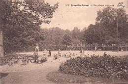 Bruxelles-Forest - La Plaine De Jeux - Carte Animée - Bossen, Parken, Tuinen