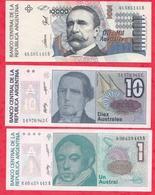 Argentine 3 Billets ---UNC/NEUF - Argentine