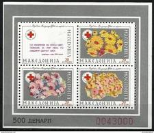 Macedonia  - 1993 Red Cross Silver Perf S/sheet  MNH **   Mi ZB6 - Macédoine