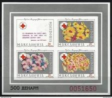 Macedonia  - 1993 Red Cross Silver Imperf S/sheet  MNH **   Mi ZB6B - Macedonia