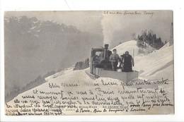 21398  - Chemin De Fer Glion-Naye Le Chasse-neige 1914 - VD Vaud