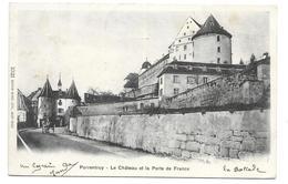SUISSE...PORRENTRUY. Le Château Et La Porte De France - JU Jura