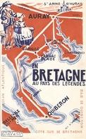 Dépliant Touristique Du Morbihan, Au Pays Des Légendes, Vacnaces Idéales, Auray, Carnac, Belle-Ile, Vers 1930 - Dépliants Touristiques